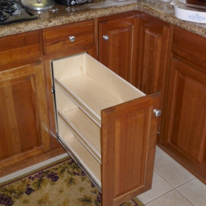 Pull Out Library. Narrow Base Cabinet