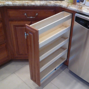 ... spice racks for narrow cabinets. Available for upper or lower cabinets  ...